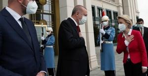 Cumhurbaşkanı Recep Tayyip Erdoğan, AB heyeti ile görüştü